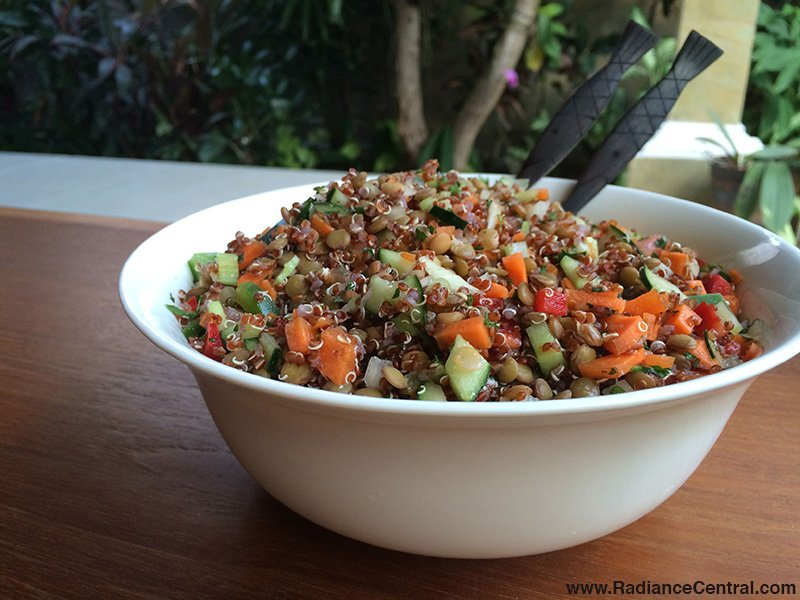 Quinoa Lentil Salad Recipe - www.RadianceCentral.com