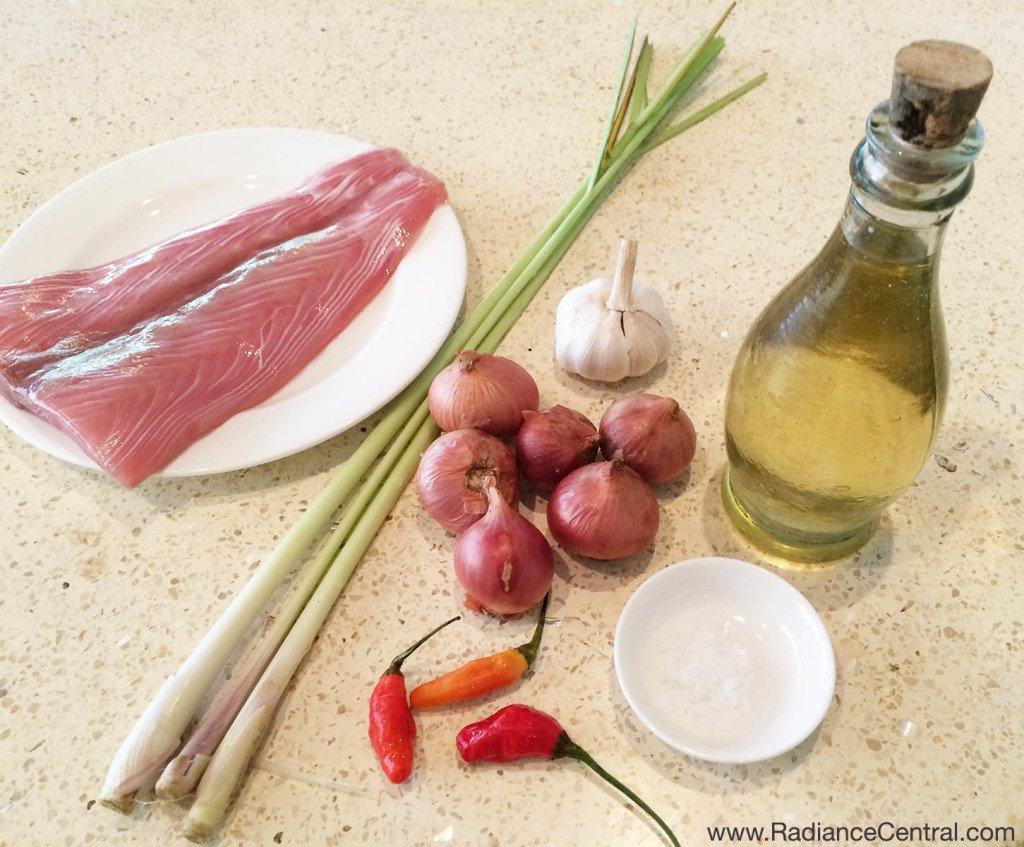 Fish & Balinese Sambal Matah Recipe - www.RadianceCentral.com