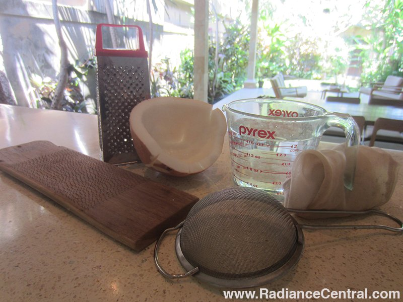 How To Make Fresh Coconut Milk & Coconut Cream - www.RadianceCentral.com