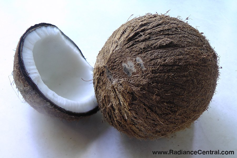 How To Open A Mature Coconut - www.RadianceCentral.com