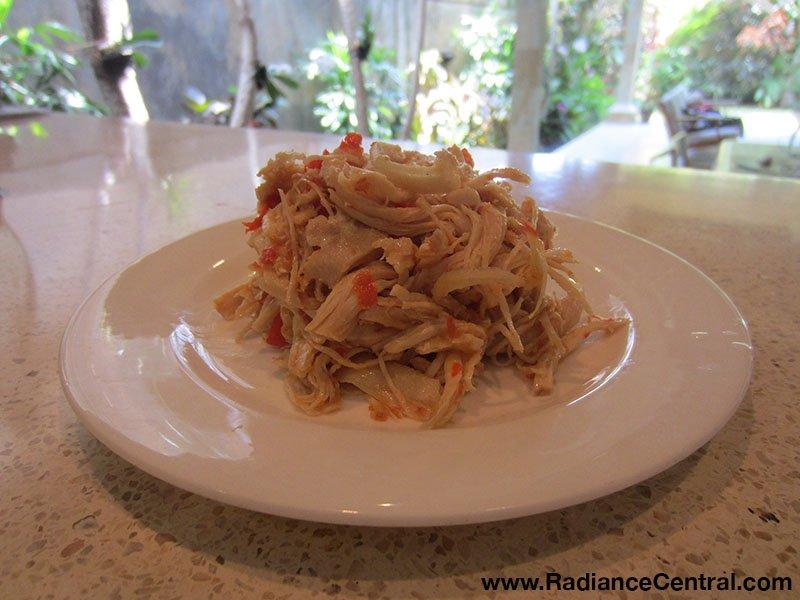 Indonesian Shredded Chicken with Chili Garlic Sauce Recipe2 - www.RadianceCentral.com