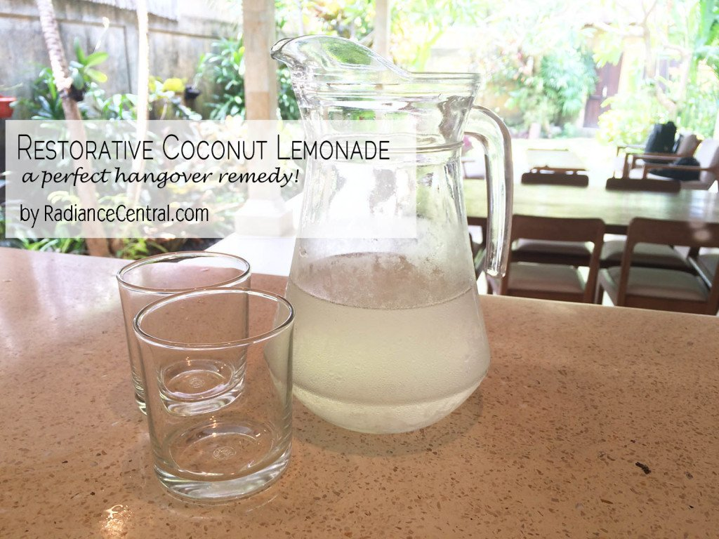 Coconut Lemonade Recipe - www.RadianceCentral.com