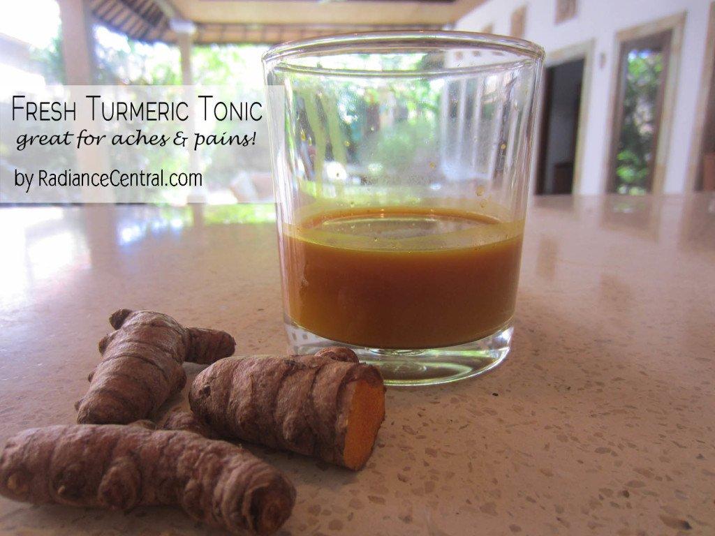 Turmeric Tonic Recipe -www.RadianceCentral.com