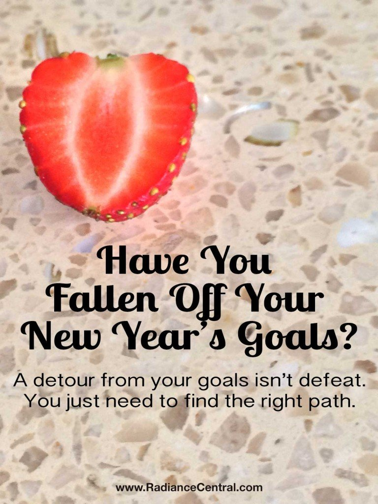 Have You Fallen Off Your Goals? www.RadianceCentral.com